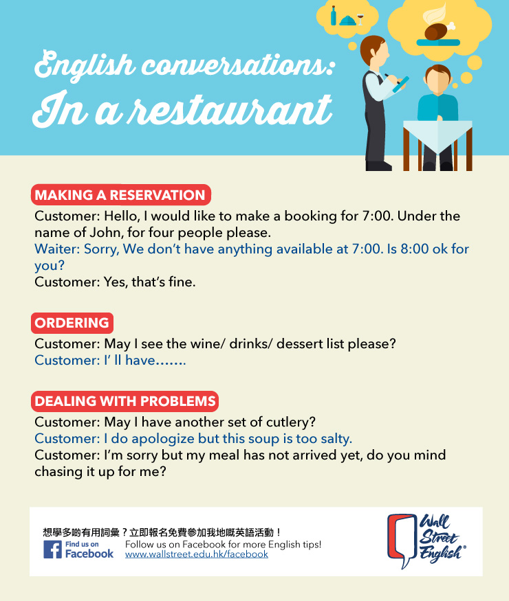 English conversations: In a restaurant | Wall Street English