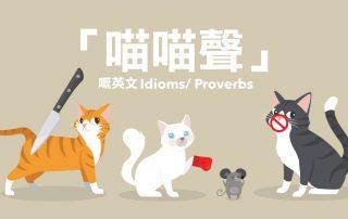 「喵喵聲」嘅英文 Idioms/ Proverbs