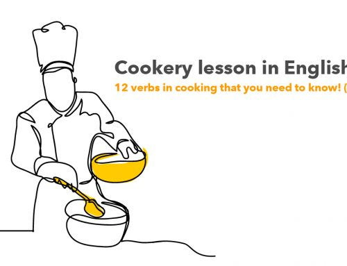 Cookery lesson in English! 12 verbs in cooking that you need to know!(1)