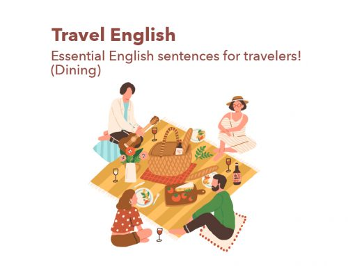 Travel English: Essential English sentences for travelers! (Dining)