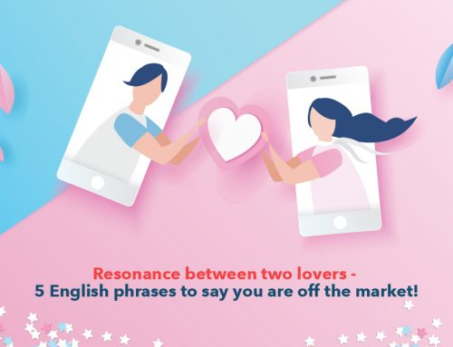 Resonance between two lovers : 5 English phrases to say you are off the market!