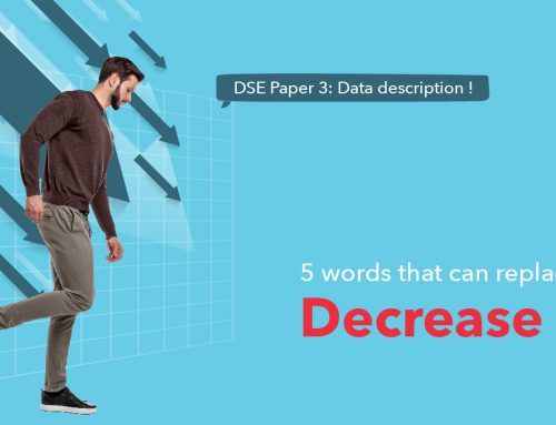 DSE Paper 3: Data description ! 5 words that can replace 'decrease'