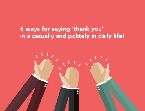 6 ways for saying 'thank you' casually and politely in daily life!