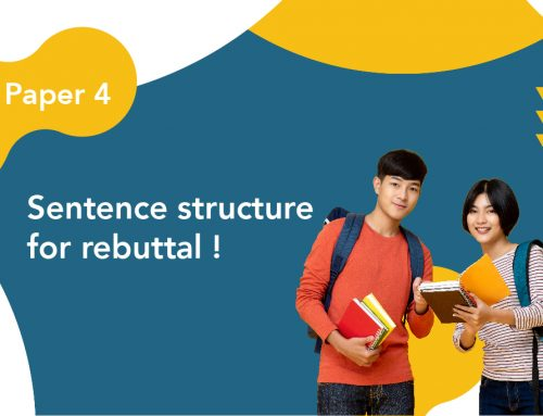 DSE Paper 4 : Sentence structure for rebuttal