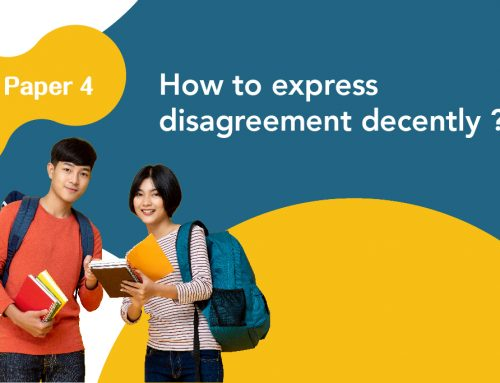 DSE Paper 4 : How to express disagreement decently ?
