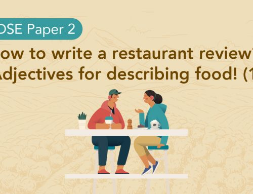 DSE Paper 2: How to write a restaurant review? Adjectives for describing food! (1)