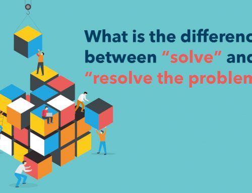 "What is the difference between ""solve"" and ""resolve the problem""?"