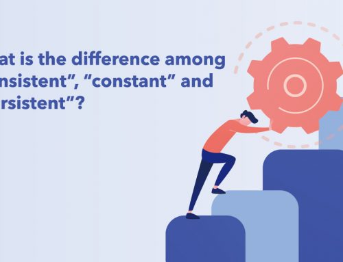 "What is the difference among ""consistent"", ""constant"" and ""persistent""?"
