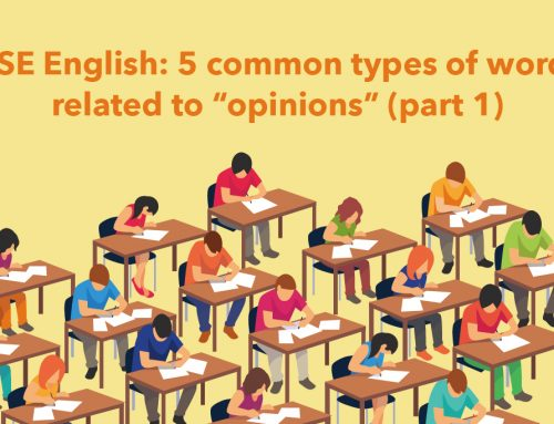 """DSE English: 5 common types of words related to """"opinions"""" (part 1)"""