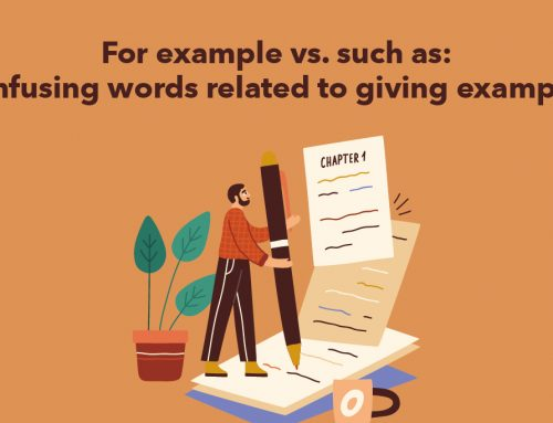 For example vs. such as: confusing words related to giving examples