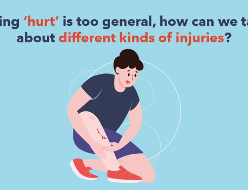 Using 'hurt' is too general, how can we talk about different kinds of injuries?