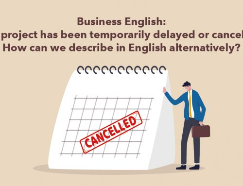 Business English: The project has been temporarily delayed or canceled? How can we describe in English alternatively?