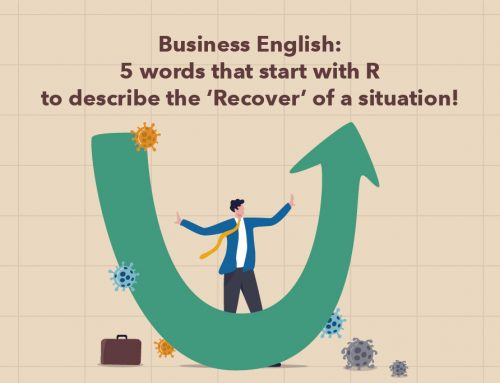 Business English: 5 words that start with R to describe the 'Recover' of a situation!