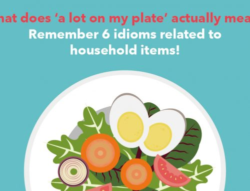 General English: What does 'a lot on my plate' actually mean? Remember 6 idioms related to household items!