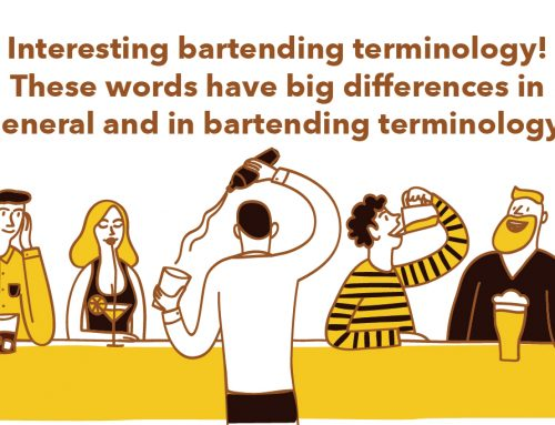 Interesting bartending terminology! These words have big differences in general and in bartending terminology!